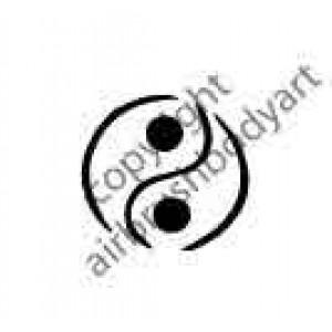 0267 ying yang reusable stencil